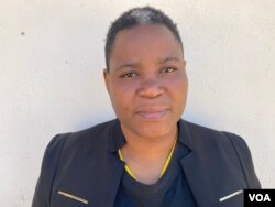 Simiso Mlevu, spokeswoman for the Center for Natural Resource Governance says Hwange national park is a unique and an important enclave. (Columbus Mavhunga/VOA)