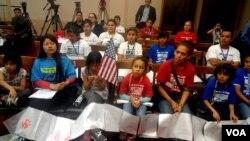 Niños inmigrantes en el Congreso.