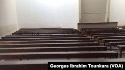 Les amphithéâtres sont vides à l'université de Cocody, Côte d'Ivoire, 12 décembre 2017. (VOA/ Georges Ibrahim Tounkara)