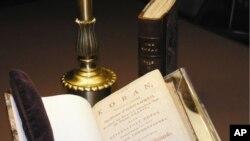 صدر تھامس جیفرسن کے زیر استعمال قران کی کاپی لائبریری آف کانگریس میں