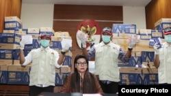 Komisioner KPK, Basaria Panjaitan memaparkan hasil OTT terhadap Bowo Sidik Pangarso. (Foto: Humas KPK)