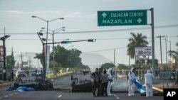 Sitio de una emboscada a soldados en septiembre de 2016 que se cree fue llevada a cabo por los hijos de El Chapo Guzmán.