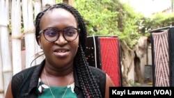 """Christelle Sélom, initiatrice de la """"colonie verte"""", Lomé, le 24 août 2019. (VOA/Kayi Lawson)"""