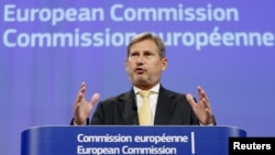 Evropski komesar za proširenje Johanes Han