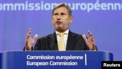 Komisaris Perluasan Uni Eropa Johannes Hahn (foto: dok).
