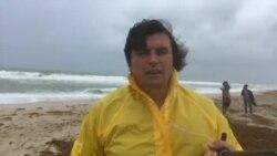 Пляж Майами-Бич в эти минуты