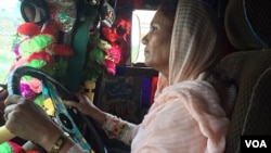 Pakistan's first female truck driver, Shamim Akhtar, is definitely in the driver's seat!