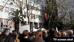 Protest ispred Skupštine Crne Gore