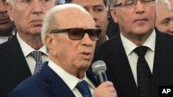 Le président Béji Caïd Essebsi de la Tunisie, 29 mars 2015.
