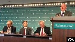 哈德遜研究所舉行亞洲民主研討會(美國之音鍾辰芳拍攝)
