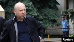 FILE - Ukrainian interim leader Oleksander Turchinov.