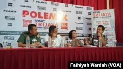 Diskusi tentang sengketa perbatasan Indonesia-Malaysia di Jakarta, Sabtu (16/11)
