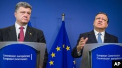 Poroshenko va Barroso, 30-avgust, Bryussel