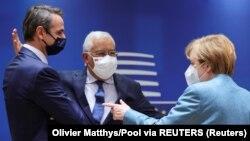 Covid-19 ထိန္းခ်ဳပ္ေရး EU ေခါင္းေဆာင္ေတြ ဘရက္ဆဲလ္ျမိဳ့တြင္ေတြ ့ဆံုၾကစဥ္ (ဓာတ္ပံု-Reuters)