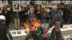 2013-04-16 美國之音視頻新聞: 北韓誓言嚴厲報復首爾舉行的抗議平壤活動