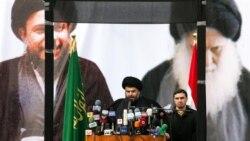 مقتدی صدر بازگشت خود را به عراق با سخنرانی ضد آمريکا آغاز کرد
