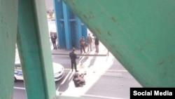 تصویری از سقوط زن جوان در میدان رسالت تهران که گفته میشود خودکشی بوده