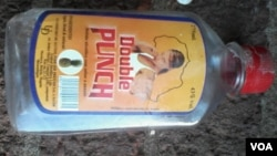 An empty bottle of Double Punch seen in a Bulawayo street. (Story and Photo: Memory Muzenda)