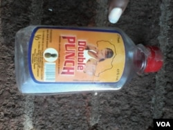 An empty bottle of Double Punch seen in Bulawayo