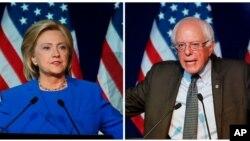 Bakal calon Presiden partai Demokrat, Hillary Clinton (kiri) dan Bernie Sanders bersaing ketat dalam survei terbaru di Iowa (foto: dok).