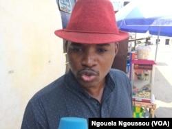 Franck Nzila, coordonnateur de ras-le-bol appelle à l'implication de la société civile, au Congo, le 19 septembre 2017. (VOA/Ngouela Ngoussou)