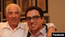 باقر نمازی (چپ) در کنار پسرش سیامک. آنها از سه سال پیش زندانی بوده اند.