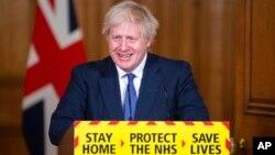 英國約翰遜首相1月15日發表關於Covid-19 的講話。