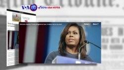 Manchetes Americanas 14 Outubro: Michelle Obama chocada com palavras de Donald Trump
