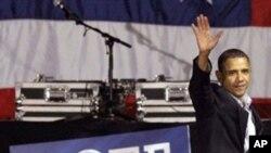 奧巴馬出席民主黨造勢會