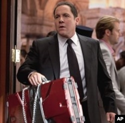 "Jon Favreau plays Happy Hogan in ""Iron Man 2"" © 2010 MVLFFLLC. TM & © 2010 Marvel. All Rights Reserved."