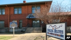 The Delta Blues Museum in Clarksdale, Miss., is pictured on March 10, 2017. It's one of a number of museums, historic sites and other attractions in the Delta that explore the region's rich musical history.