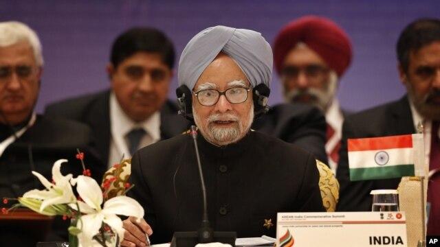 Thủ tướng Ấn Độ Manmohan Singh nói chuyện tại hội nghị thượng đỉnh Ấn-ASEAN ở New Delhi, Ấn Độ, 20/12/ 2012