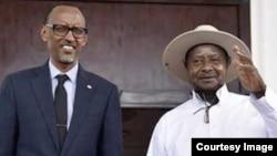 Rais Museveni na Rais Kagame