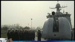 中国和俄罗斯举行联合海军演习