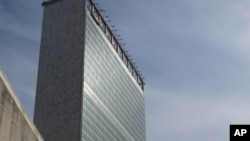 The United Nations headquarters building in New York, September 19, 2011.