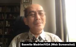 Faisal Basri, ekonom senior dari Universitas Indonesia. (Foto: Tangkapan layar/Sasmito Madrim)