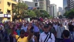 Venezuelans Protest in Streets of Caracas
