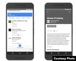 The new Google search tool lets users connect directly to job descriptions that interest them. (GOOGLE)