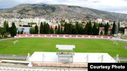 Pogled na Mostar sa Tribine Stadiona pod Bijelim brijegom. Foto: BIRN BiH