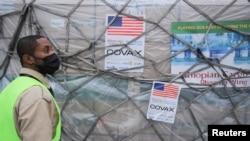 미국이 코백스를 통해 제공한 신종 코로나바이러스 백신이 지난 7월 에티오피아 아디스아바바에 도착했다. (자료사진)