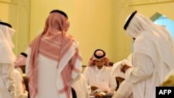Saudi election officials count votes at the end of the municipal elections, on Dec. 12, 2015 in Jeddah.