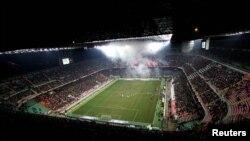 Vue panoramique du stade de la Lazio, Italie le 6 fevrier 2005. Source: Reuters