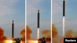 کوریای شمالی میگوید که میزاییل هواسونگ-۱۲ را تحت هدایت کیم جونگ اُن آزمایش کرد