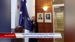 Mẹ của Đinh Nguyên Kha vận động tại Úc trước đối thoại nhân quyền