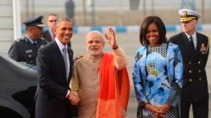 اوباما و همسرش امروز وارد دهلی جدید شدند