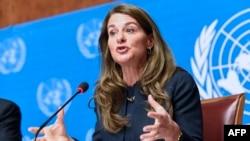Trong bài phát biểu đọc tại Ðại hội Y tế Thế giới, bà Melinda Gates, đồng chủ tịch Tổ chức Bill & Melinda Gates Foundation, kêu gọi các đại biểu ủng hộ kế hoạch hành động toàn cầu