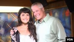 Jessie Ware and Larry London in studio