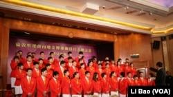 中国金牌运动员访港