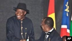 Shugaban Najeriya Jonathan da na Chadi Idris Derby
