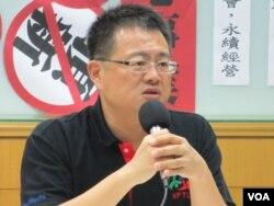 台灣教師工會總聯合會理事長張旭政。(美國之音張永泰拍攝)